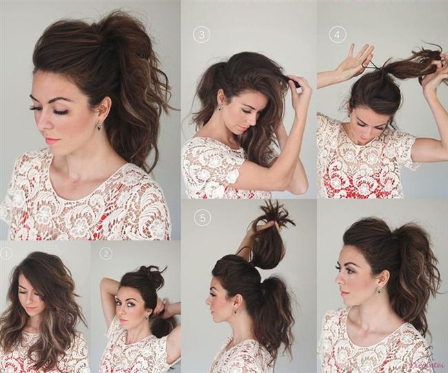 2 dakikada kolay saç modelleri